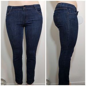 Cest Toi Jeans Plus Size 15 Skinny Blue Stretch